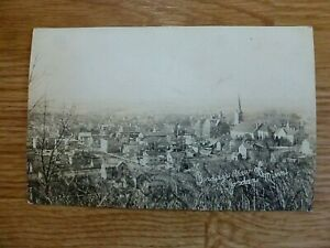 Birdseye View of Jordan Minnesota, 1900s, Real Photo Post Card, UNPOSTED
