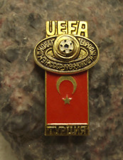 1984 UEFA European Football Championships Turkey Team Soccer Flag Pin Badge