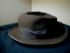 Vintage 50s 60s Royal Stetson Brown Felt Whippet Fedora Hat Besse Russell Co.