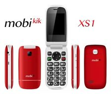 Mobikik XS1 Seniors Large Number Unlocked Mobile- Red-SOS-Emergency-$30 Kit Too