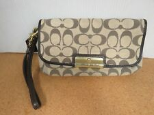 Coach F48980 Kristin Signature Flap Wristlet Purse Clutch W833C