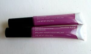 LOT OF 2 Mary Kay glossy lip oil (BRILLIANT VIOLET)  *FREE SHIPPING*