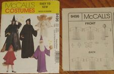 Mccall Costume PATTERN Adult & Children Wizard,Witch,Angel,Phantom, Riding Hood