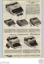 1960 PAPER AD 2 Pg Typewriter Remington Royal Smith Corona Futura  Galaxie Rem