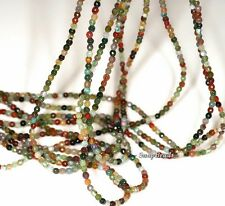 """2MM SANCTUARY INDIAN AGATE GEMSTONE RAINBOW FACETED ROUND 2MM LOOSE BEADS 16"""""""