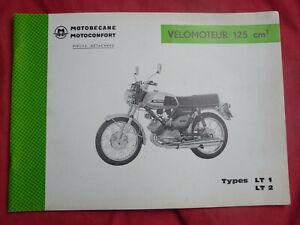 Motobécane 125 LT1 LT2 catalogue pièces détachées spare parts list Motoconfort