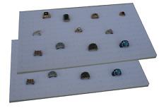 "2 Piece 144 Jewelry White Insert Display Pads  14 3/4"" x 7 3/4"" x 1/2"""