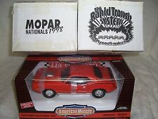 1/18 1970 MOPAR NATIONALS 1998 LIMITED EDITION RED PLYMOUTH CUDA DIECAST- RARE!