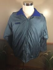 Vintage Columbia Mens Small Anorak Ski Jacket Shell Blue 90s