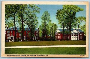 Postcard~ Lynchburg College & Campus~ Lynchburg, Virginia~ p3