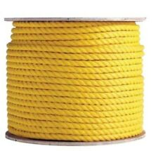 """1/2"""" x 400' Reel, Yellow, 3-Strand Polypropylene Cable Pulling Rope"""