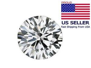 Loose moissanite Stone G-H White Color Round Brilliant Cut Excellent Grade VVS1