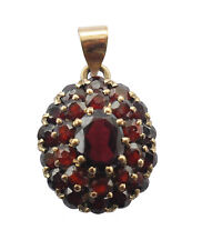 Pendant Only Chain is Not Included Antique 1940s Multiple Garnet 14k Gold