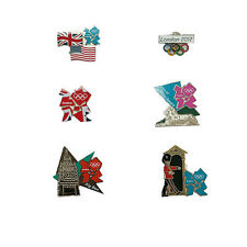 2012 Olympics Set of 6 Official London Games Pin Collection Push Hinge Backs QVC