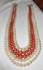 FAUX PEARLS AND BEADS NECKLACE VINTAGE 1970's