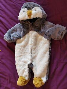 lovely NEXT Penguin Babygro Suit  - size 0-3 Months