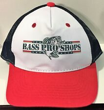 NEW ~ Bass Pro Shops ~ Trucker Mesh Snapback Hat ~ Red, White and Blue