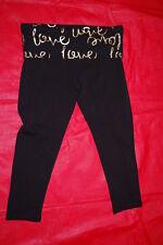 b4cd5a3eb1 Junior Women's BLACK KNIT YOGA PANTS Cropped FOLD TOP Capris LOVE Gold S ...