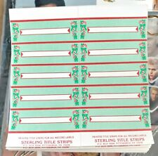 100 Christmas Jukebox Title Strips Perforated 10 sheets of 10 labels Yuletide