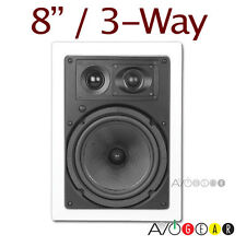 "OEM 8"" Inwall 3-way  In-wall Speaker Pair NEW"