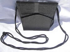"""Soft Vintage Black Bow Purse 8""""Across the Top by 6"""" Tall Ships Free in USA"""