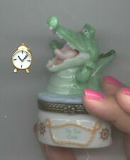 Disney Peter Pan Tic Toc Croc Porcelain Cute Phb Original Box Mint