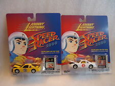 Johnny Lightning  Speed Racer 2000 7 cars Mach 5, and special stock and Indy car