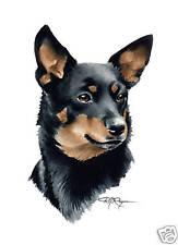 Lancashire Heeler Painting Dog Art 11 X 14 by Artist Djr