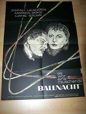 ES WAR EINE RAUSCHENDE BALLNACHT - Kinoplakat A1 50er - ZARAH LEANDER