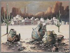 Matted Southwestern Foil Art Print~Affordable Art~8x10 Landscapes