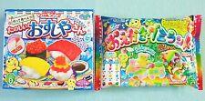 2 PCS SET Kracie Popin Cookin DIY Japanese Candy Kit Sushi Oekaki Gummy Land