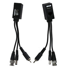 3 in 1 Plug BNC Male to RJ45 Audio Video Power Balun Transceiver for CCTV Cam T1