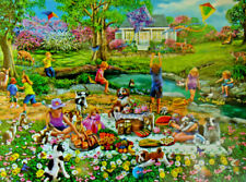 .PUZZLE.....JIGSAW....THOMPSON.....Meadow Picnic....500pc..