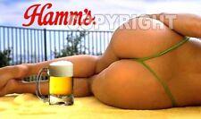 Fridge Magnet Sexy Hamm's beer thong bikini sweet ass playmate sexy babe bar art