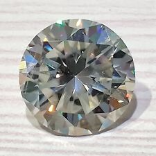 Brilliant Cut Loose Moissanite Diamond 4 Ring 3.42 Ct 9.83mm Vs1 Off White Round