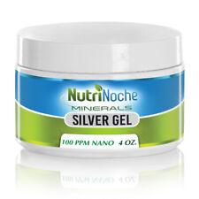 NutriNoche Pure Silver Gel - 100 PPM 4 Oz Silver Gel - First Aid Silver Gel