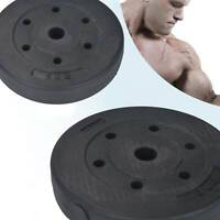 """2*5kg Vinyl 1"""" Tri Grip Weight Plates for Dumbbells Weights Lifting Plates UK"""