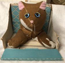 Vintage Pound Puppies Purries 7840 Kitten Cat 1986 TONKA Brown In Original Box