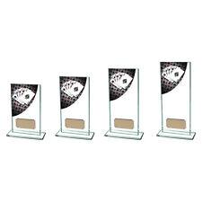 CARDS POKER GLASS TROPHY AWARD FREE ENGRAVING CR4579A TSA