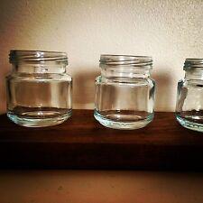 vintage Jam jar Shot Glass 30ml Mason, Kilner style moonshine Shot Glass X3