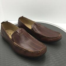 Marc Ecko Cut & Sew Mens Loafer Shoes Brown Moc Toe Leather Slip Ons On 7.5