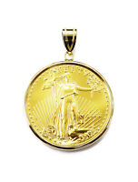 1/2 oz American Eagle $25 Gold Coin Necklace Charm Pendant