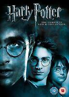 HARRY POTTER COMPLETE COLLECTION MOVIE FILMS DVD BOX SET PART 1 2 3 4 5 6 7 8 UK