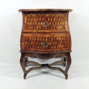 Piccolo Barocco Rococò Stile Cassettiera Franken 19.Jh Mobile Kommode Noce