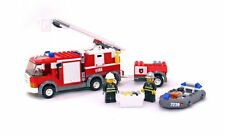 LADDER FIRE TRUCK, Lego City: Fire 7239 w/ Instructions, Audited & 100% Complete