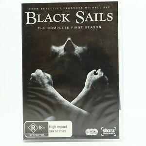 Black Sails Season 1 (DVD, 2014, 3-Disc Set) Toby Stephens GC