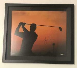 "TIGER WOODS Autographed ""Sunrise"" Framed 20 x 24 Photograph UDA"