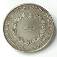 Silver Birmingham grocers bakers  Confectioners Exhibition 1935 Award Medallion