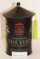 THES DE LA PAGODE PRESTIGE EDITION DRAGON FRUIT ORGANIC GREEN TEA TIN NEW FRANCE