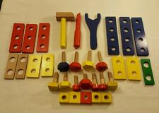 Child's 32 Piece Wooden Toy Carpenter Tool Set